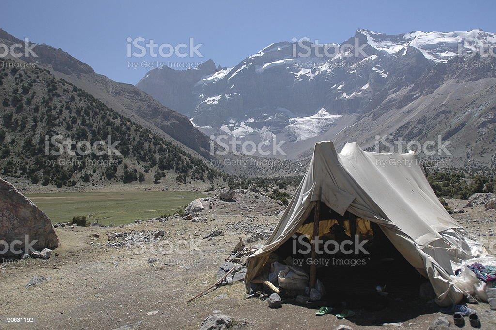 Herder's tent stock photo