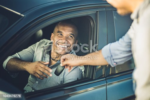 istock Here are the keys for your new car! 1043476276