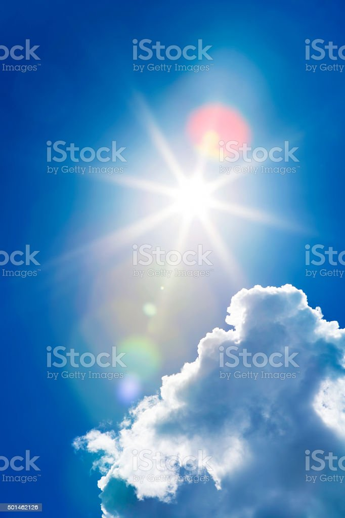 Here comes the sun stock photo