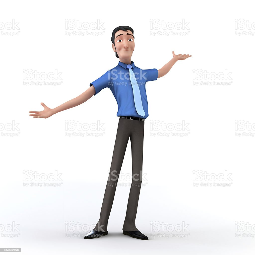 Here I am stock photo