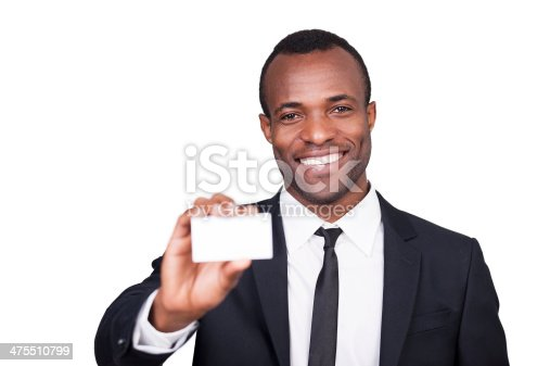 475529255 istock photo Here is my business card. 475510799