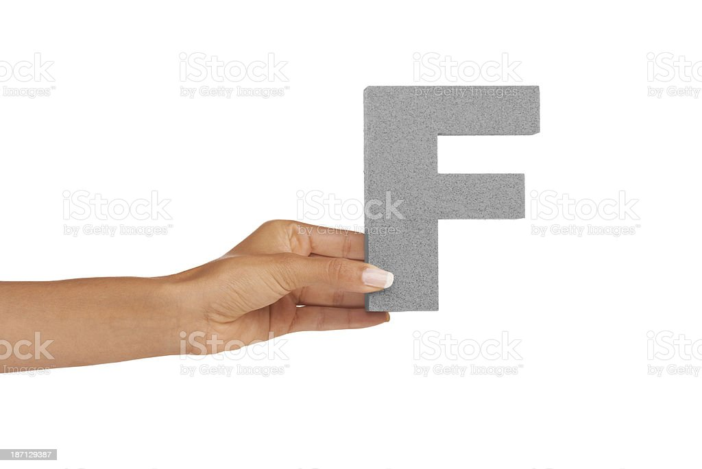 Here is the letter 'F' royalty-free stock photo