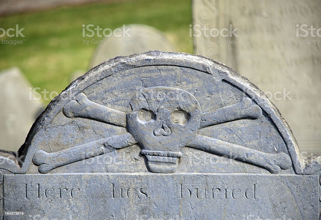 Here Lies Buried stock photo