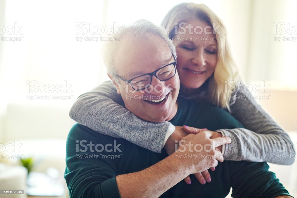 Here to hold, here to grow old together stock photo