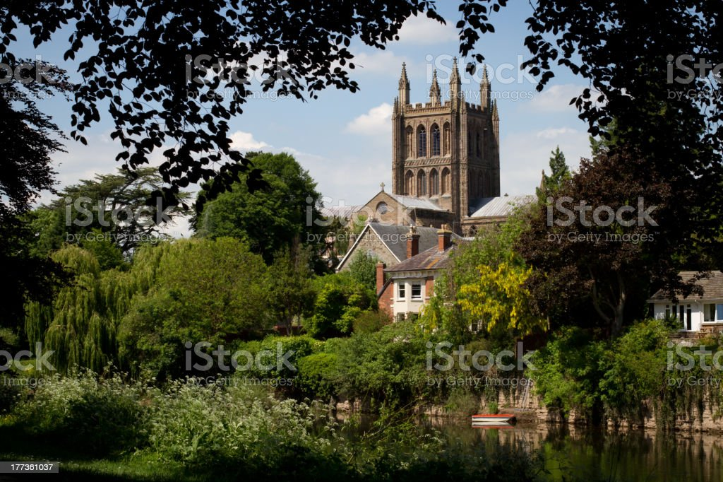 Hereford Cathedral 2012 stock photo