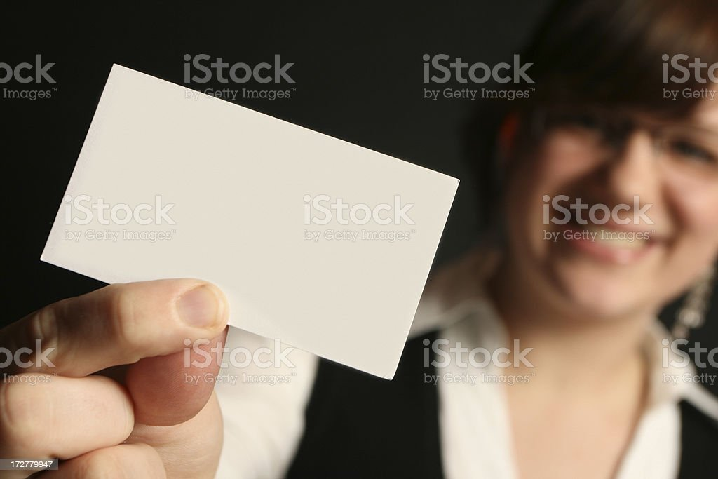 Here's my card! royalty-free stock photo