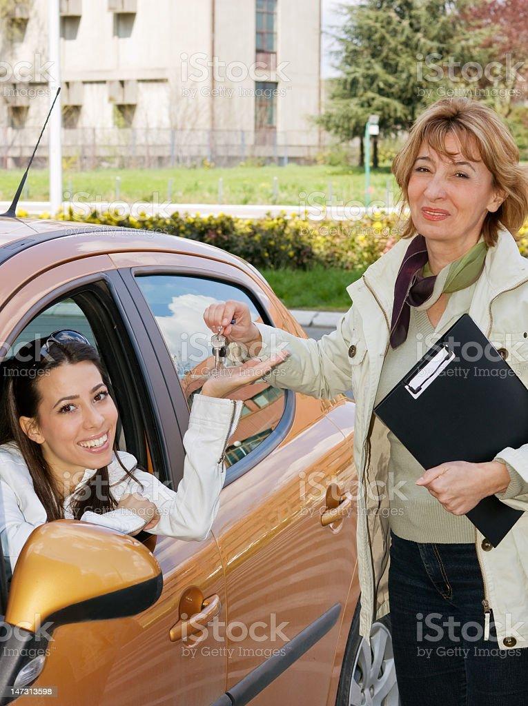 Here's the car keys royalty-free stock photo