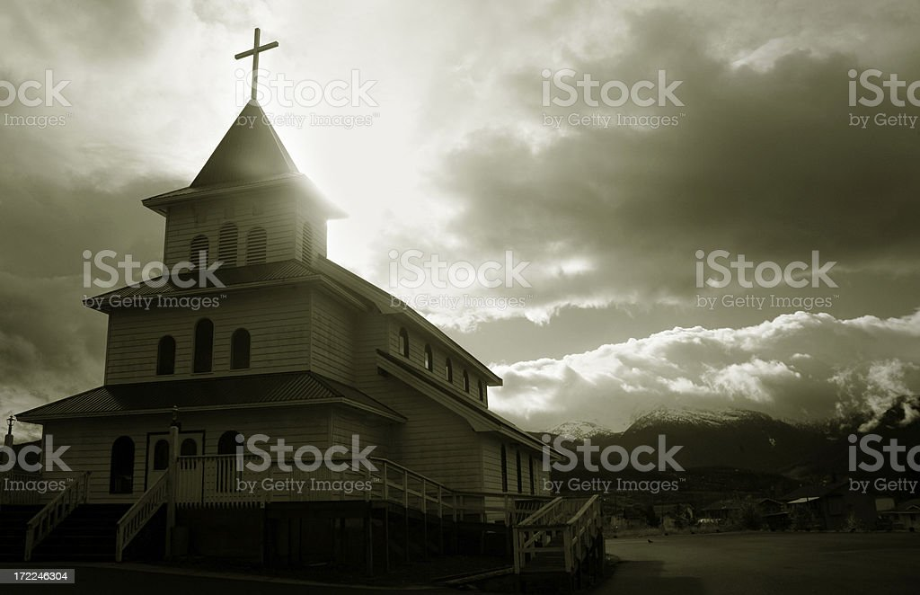 here's the church... stock photo