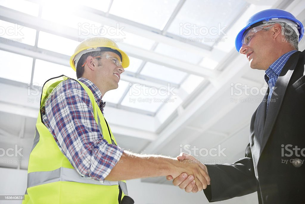 Here's to a long and prosperous future as partners royalty-free stock photo