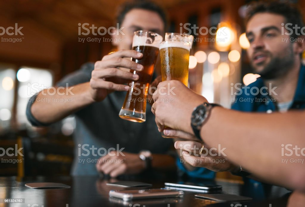 Here's to a successful business in the future - foto stock