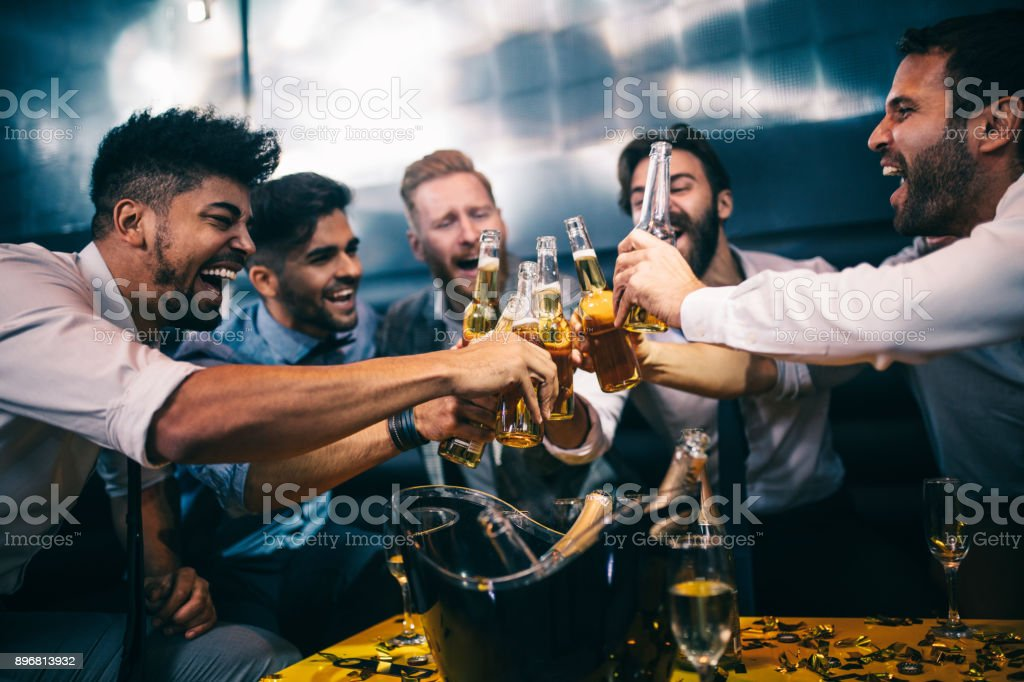 Here's to best buddies ! stock photo