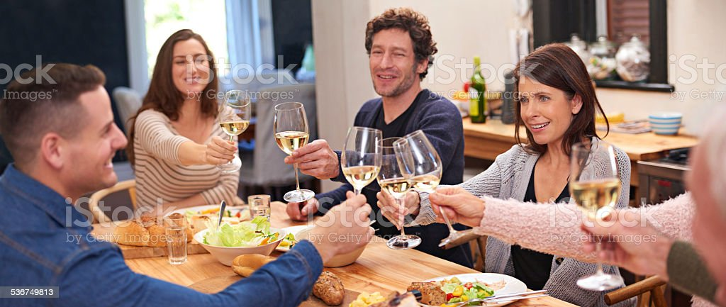 Here's to family stock photo