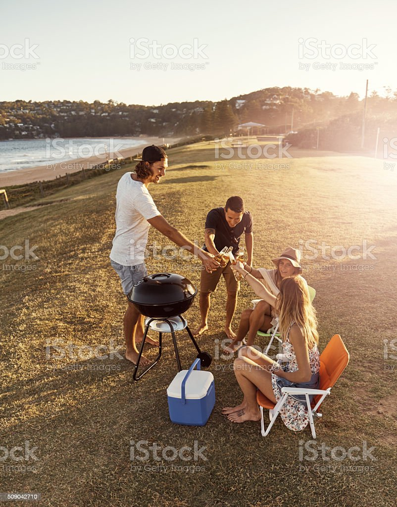 Here's to friendship stock photo