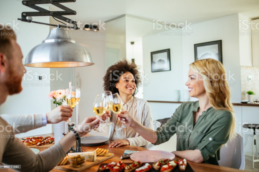 Here's to friendship ! stock photo