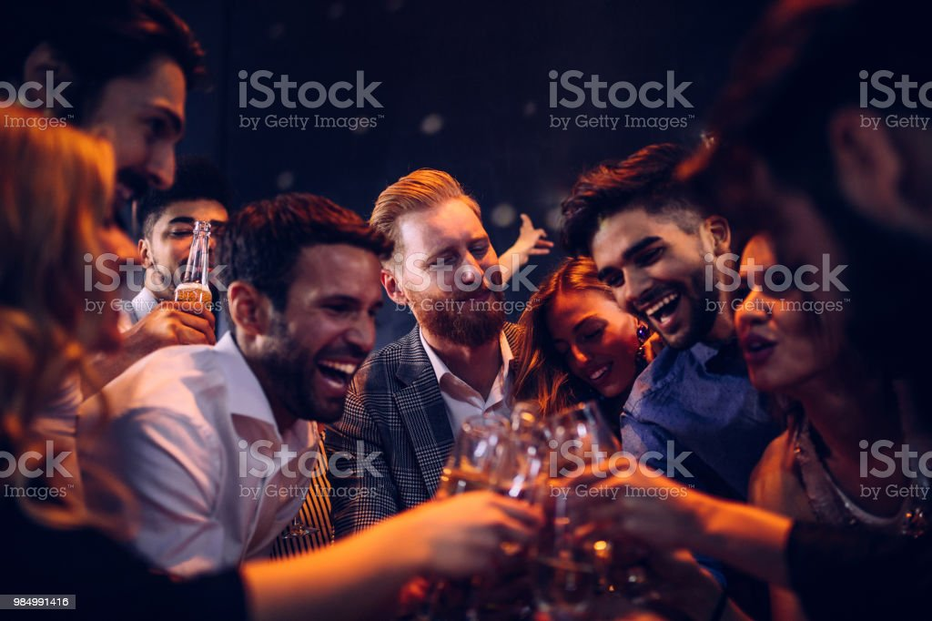 Here's to good times ! stock photo