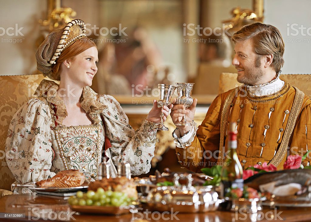 Here's to health and happiness m'lady stock photo