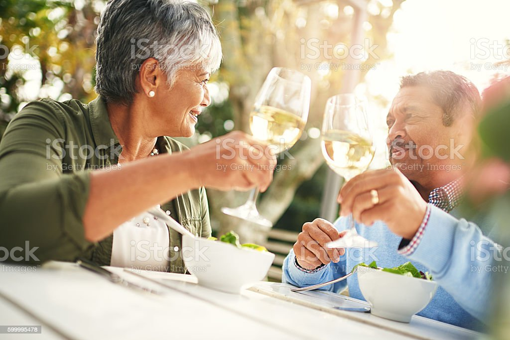 Here's to living the life we love stock photo