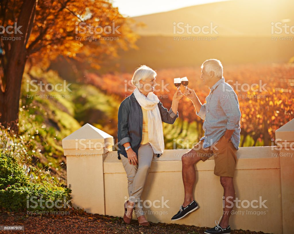 Here's to love that lasted a lifetime stock photo