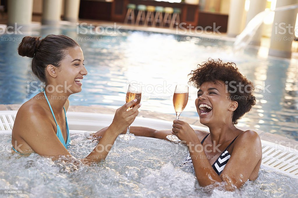 Here's to the good life! stock photo