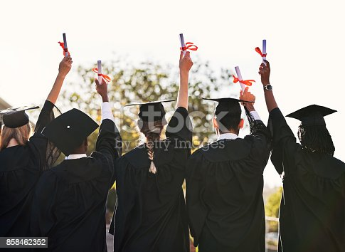 istock Here's to the next step! 858462352