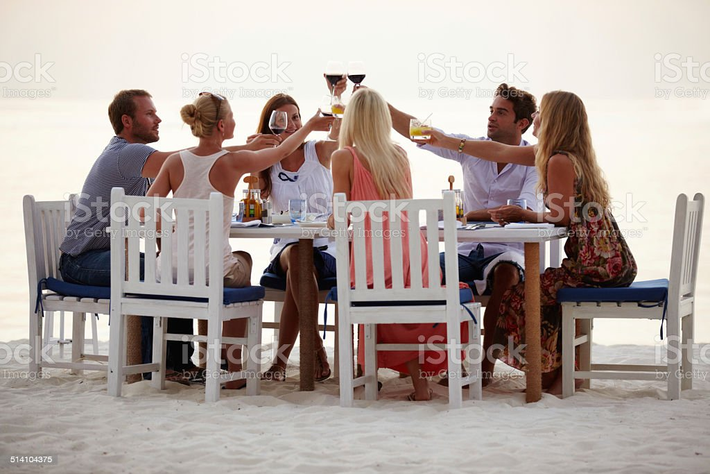 Here's to the perfect getaway! stock photo