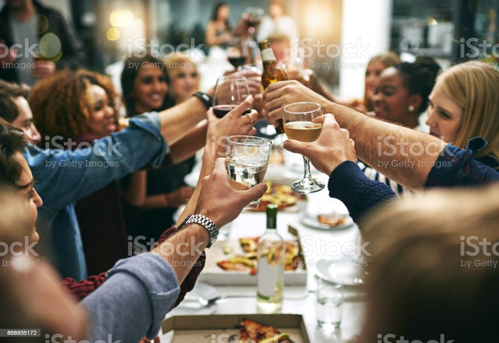 Here's to tonight - foto stock