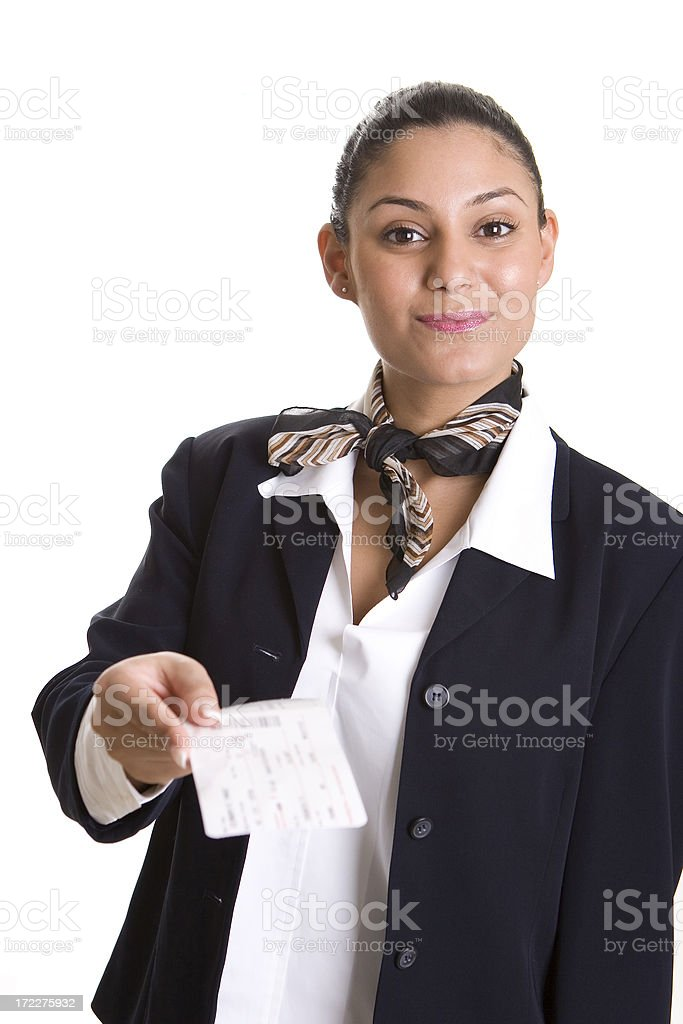 Here's Your Boarding Pass royalty-free stock photo