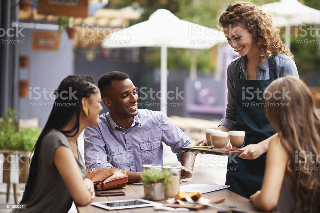 Here's your order! stock photo