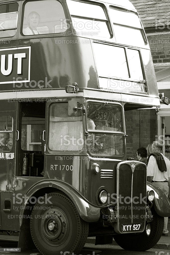 Heritage Double Decker Bus stock photo