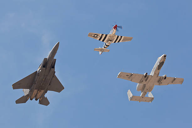 USAF Heritage Flight stock photo