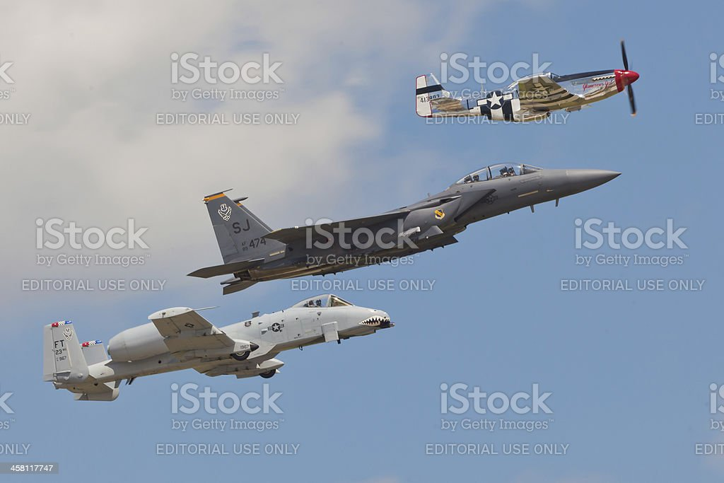 USAF Heritage Flight stock photo