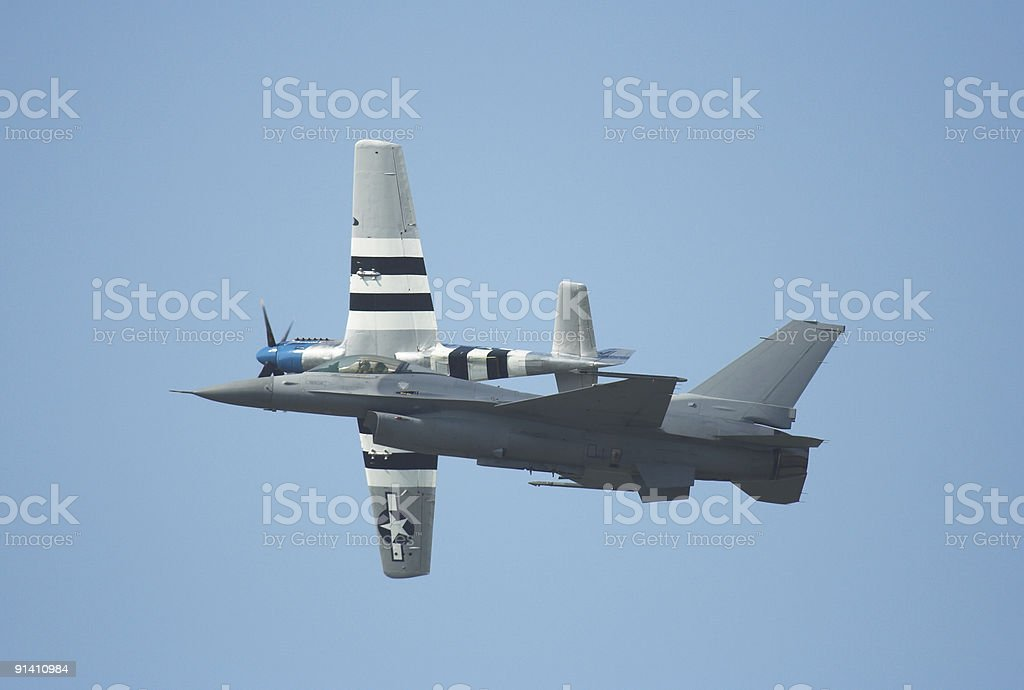 Heritage Flight royalty-free stock photo