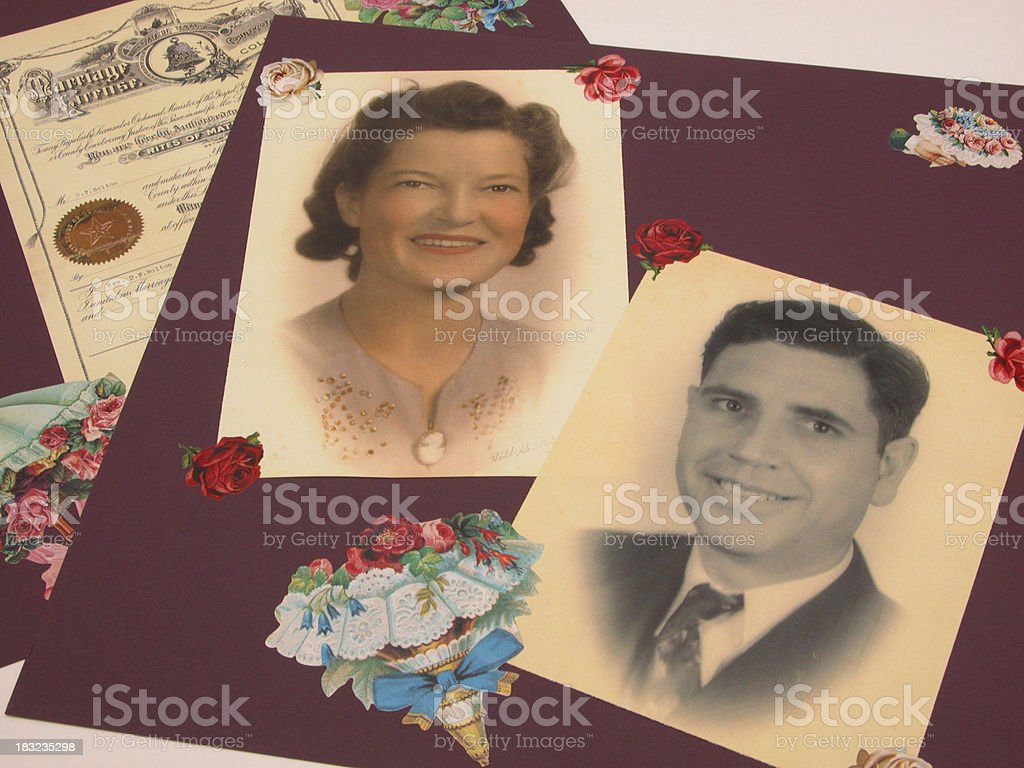 Heritage Scrapbook Page royalty-free stock photo