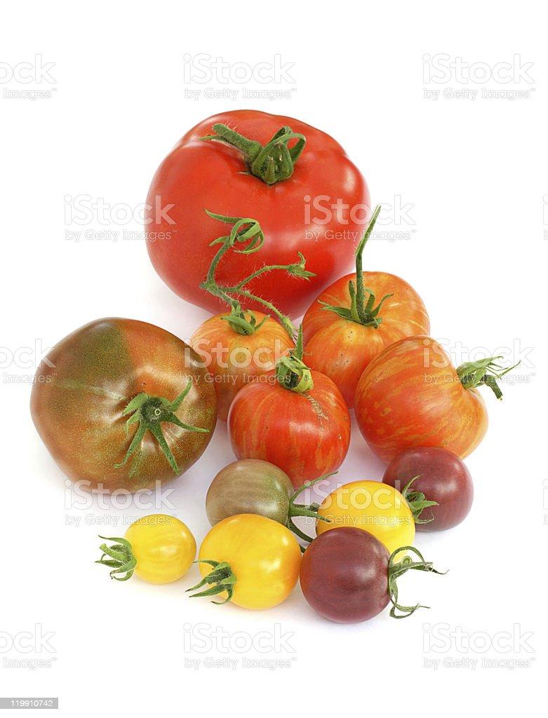 Heritage tomatoes royalty-free stock photo