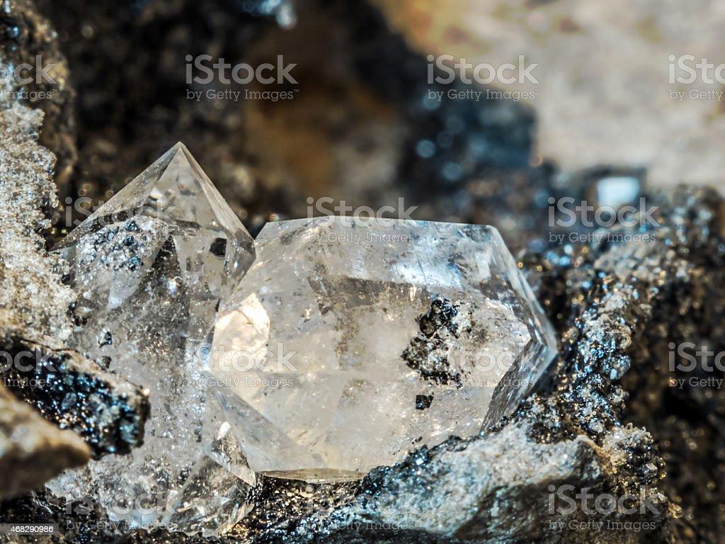 Herkimer Diamond royalty-free stock photo