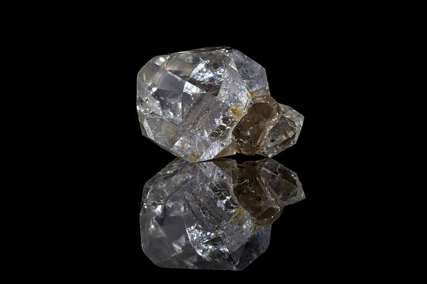 herkimer diamond - rough stock photos and pictures