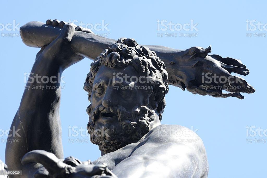 Herkules Fountain stock photo