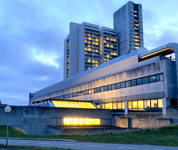 Herlev Hospital, Denmark Herlev Hospital from 1976 is the tallest building in Denmark early 20th century stock pictures, royalty-free photos & images