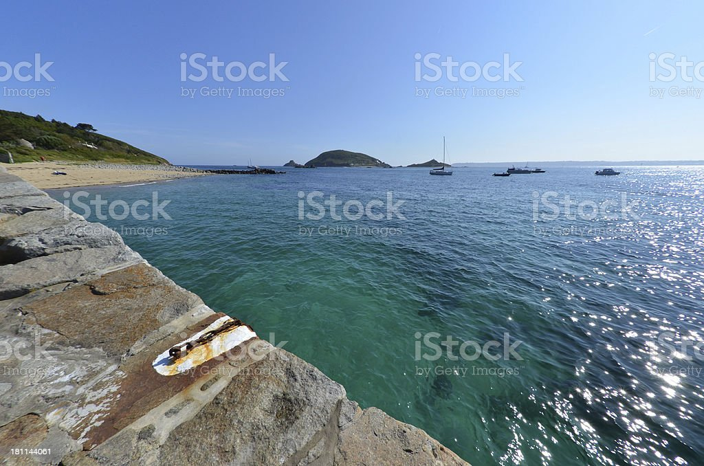Herm Quay View royalty-free stock photo