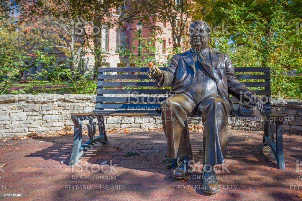 Herman B. Wells Statue stock photo