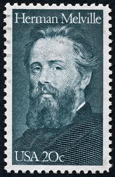 Herman Melville Stamp stock photo