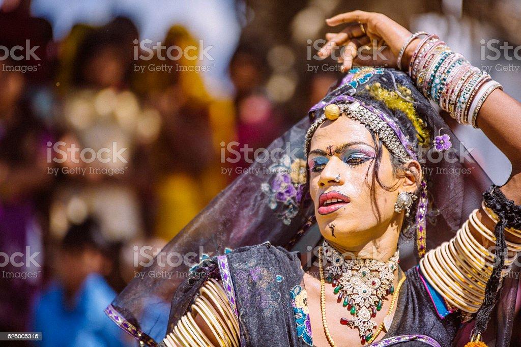 Hermaphrodite Indian Dancer Stock Photo - Download Image