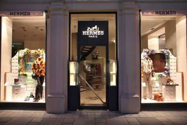 Hermes brand in Europe stock photo