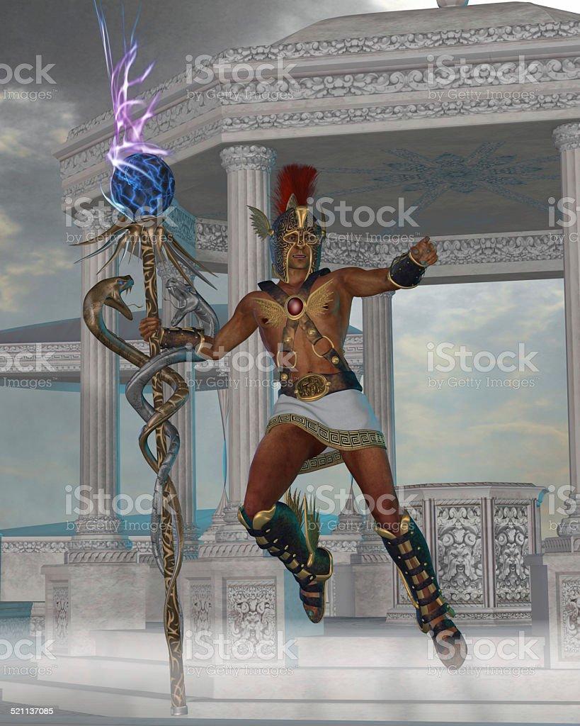 Hermes Messenger to the Gods stock photo