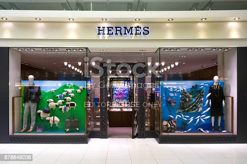 istock Hermes store in Suvarnabhumi International airport, Bangkok, Thailand. 878849208