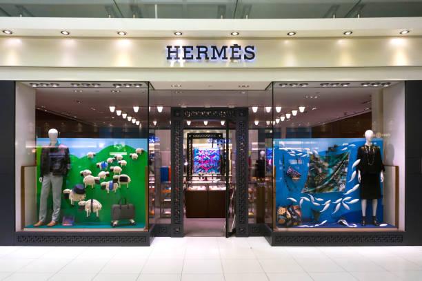 Hermes store in Suvarnabhumi International airport, Bangkok, Thailand. stock photo