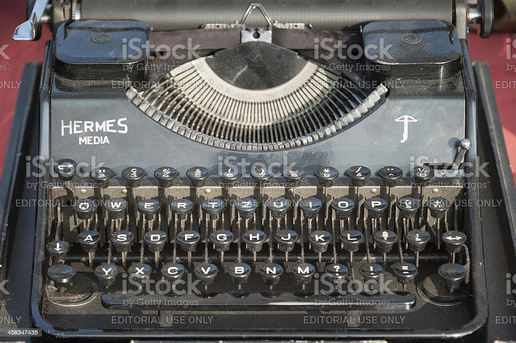 Hermess Media typewrite royalty-free stock photo