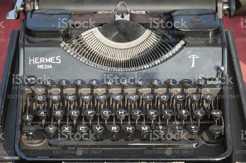 Hermess Media typewrite stock photo