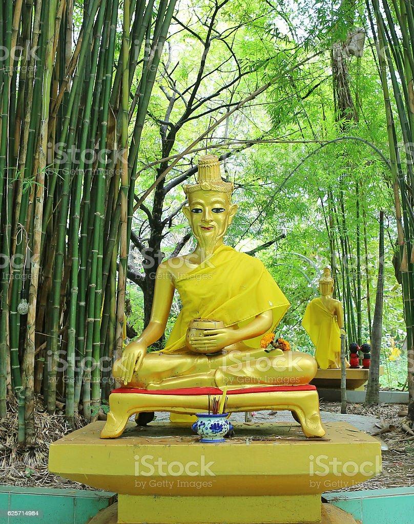Hermit statue at Wat Tabkloa, Phijit, Thailand stock photo