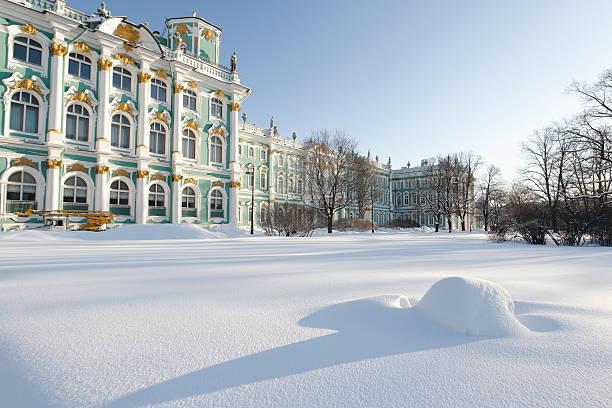 Hermitage im Schnee – Foto